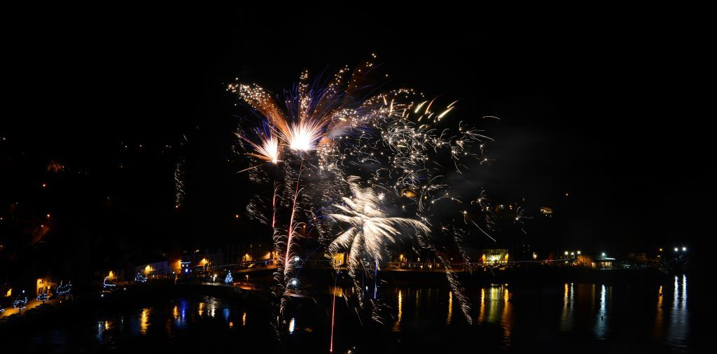 Fireworks in Tobermory, on the Isle of Mull
