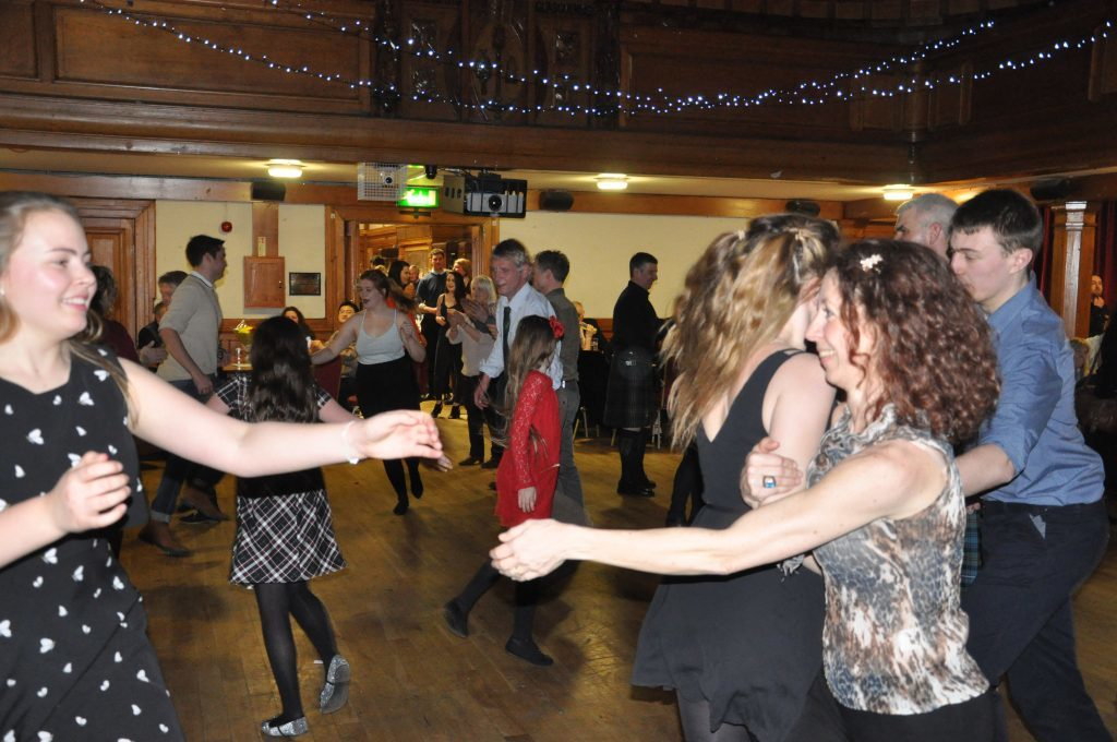 The dance floor in Glasgow Univiersity Union was full.