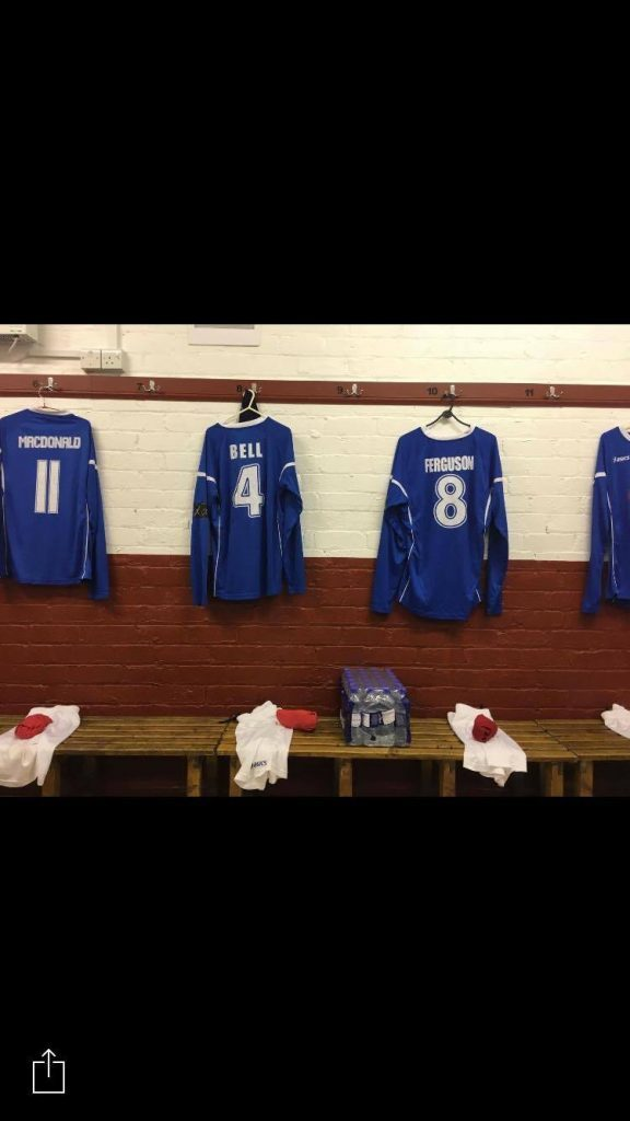 Some of the strips that were hanging on the changing room.