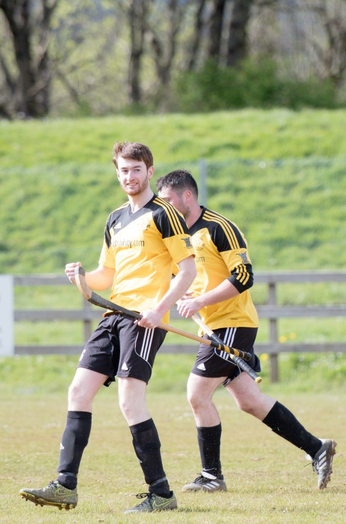 Callum Shepherd celebrates scoring Fort William's third goal against Oban Celtic. Photograph: Abrightside Photography.