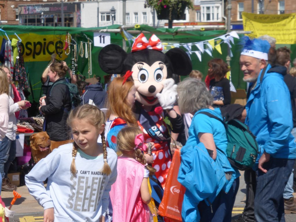 Minnie Mouse even turned up to support Charities Day Photograph: Alan Windram