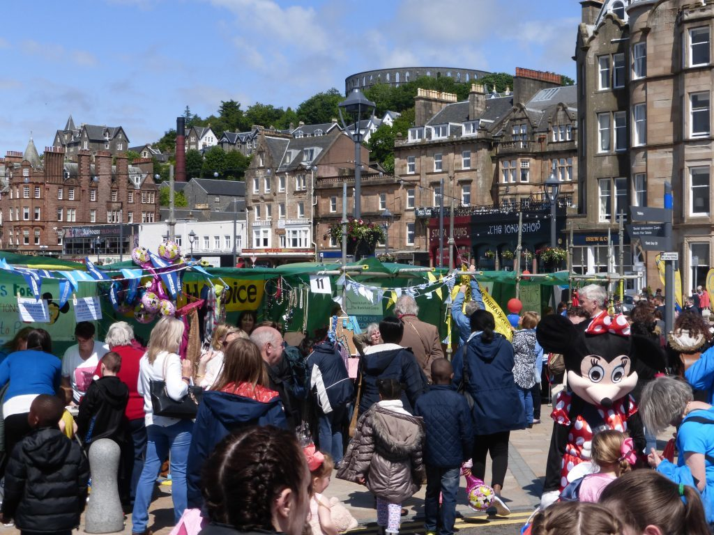 The sun came out for Charities Day, Oban. Photograph: Alan Windram