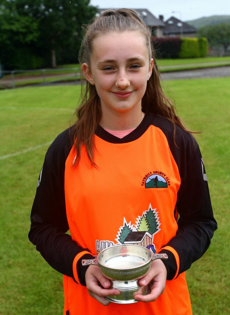 Girl player of the tournament, Briana Sloss, Taynuilt.
