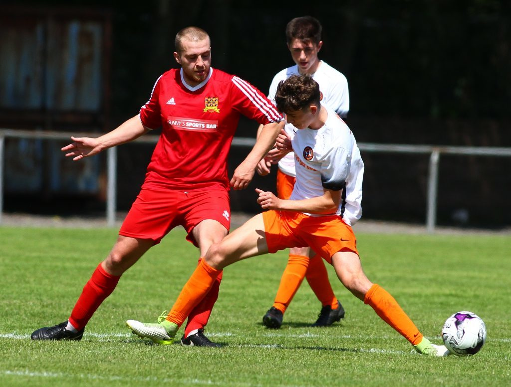 South Lochaber Thistle's David Forbes in action against  Dundee United.