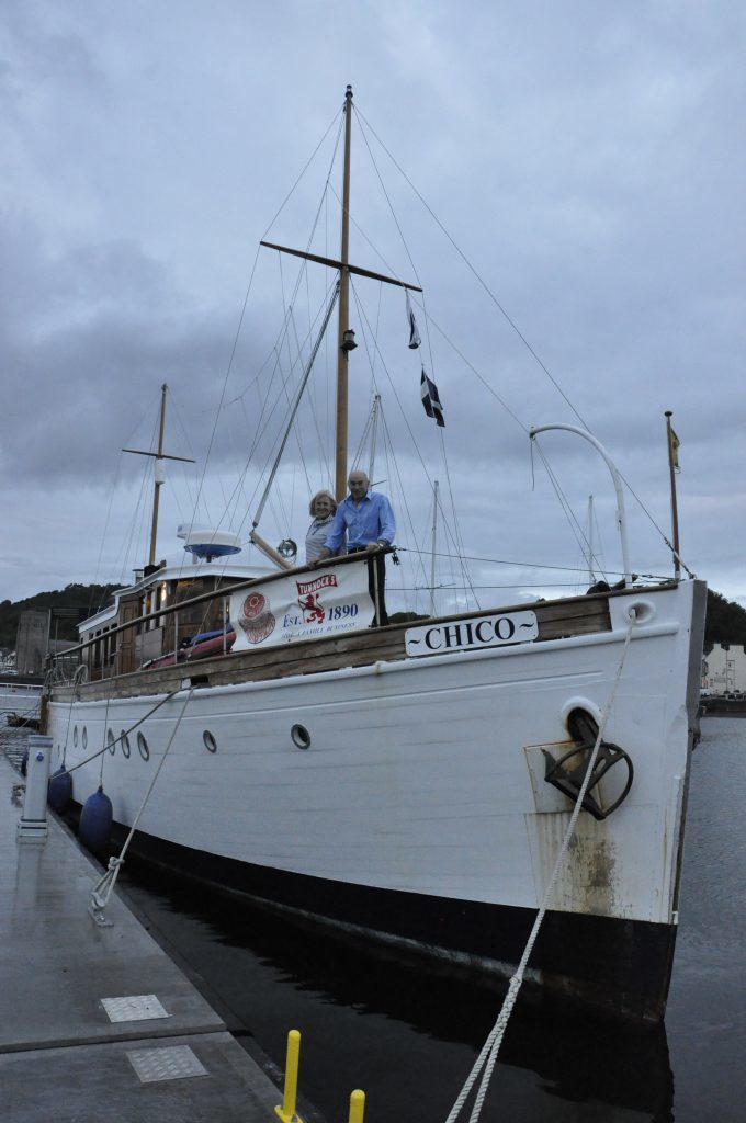 The Chico moored at Oban's new pontoons for West Highland Yachting Week