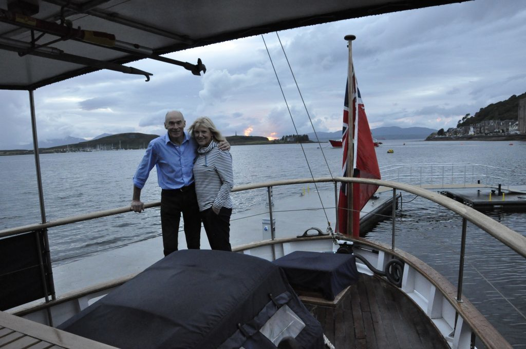 Gus Geddes and Sue Maclachlan charter the Chico for West Coast cruises