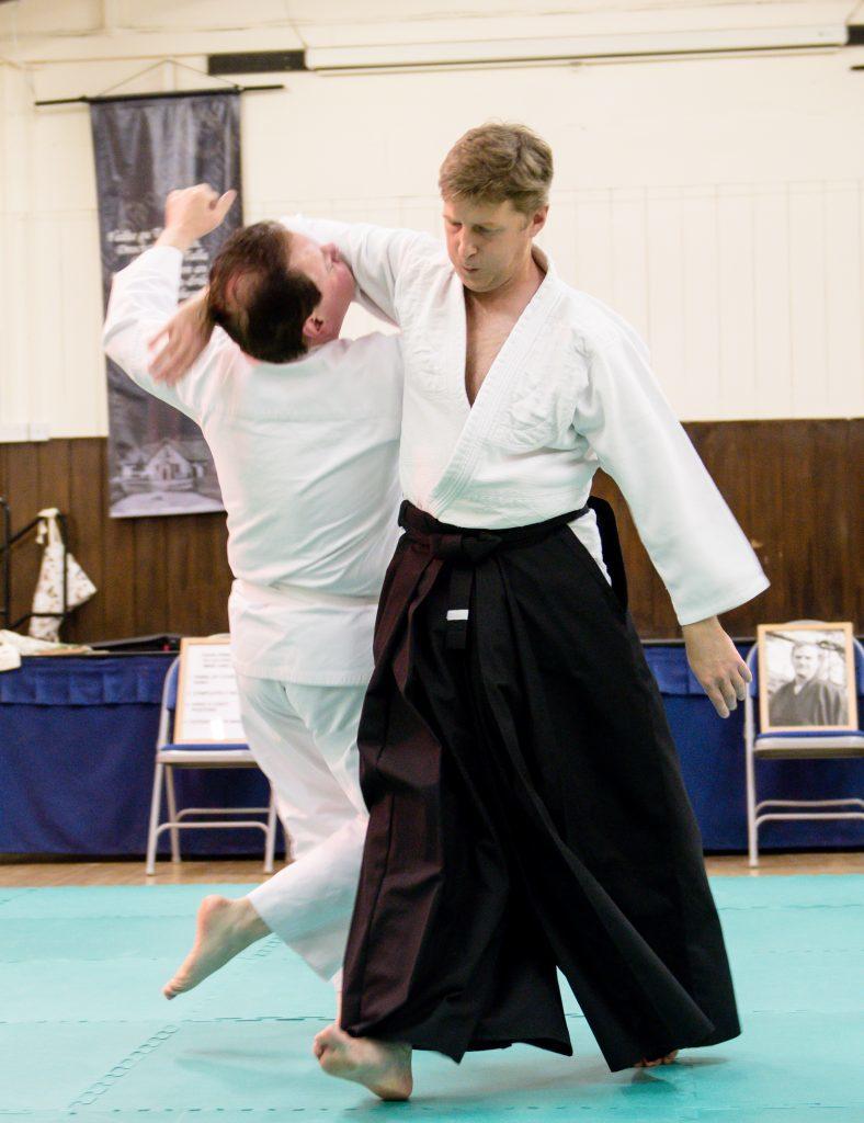 Lochaber Aikido Club sensei, James Knight, makes a technique look effortless
