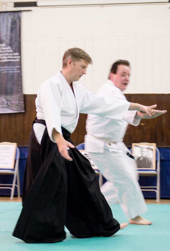 An experienced Aikidoka can control an opponent's movement easily