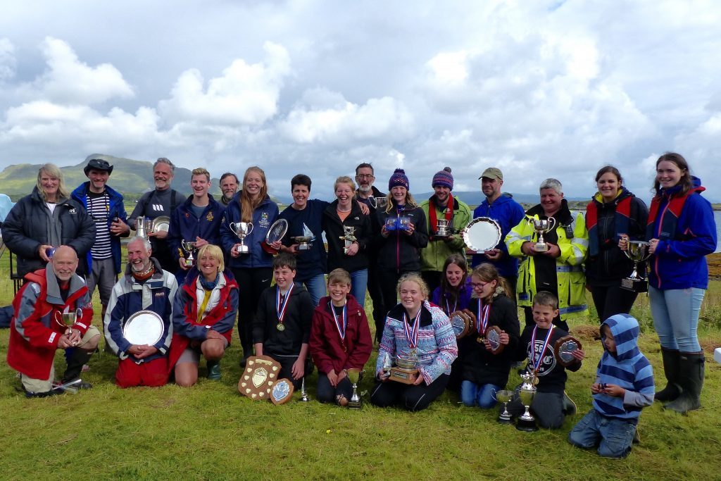 The happy prize winners
