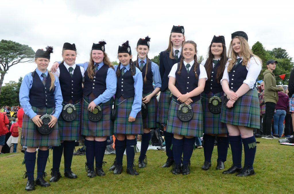Girls from the Isle of Skye Pipe Band. F33 Skye Games 01NO. Photo: Sara Bain.