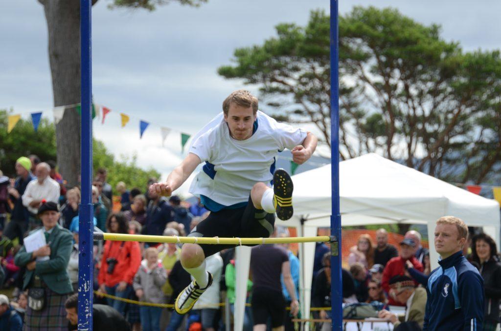 Stewart Clark clears the high jump bar. F33 Skye Games 04NO. Photo: Sara Bain.