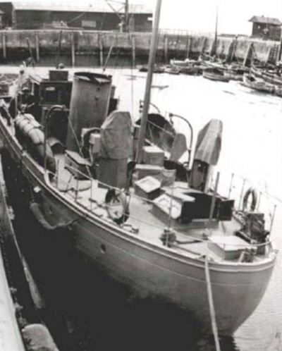 Moored in wartime.