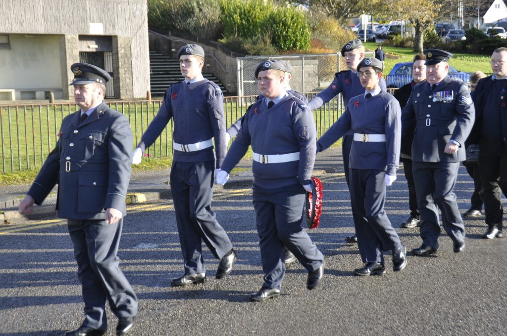 The Oban High School Squadron Royal Air Force Air Cadets. 17_T46_RemembranceSunday03.