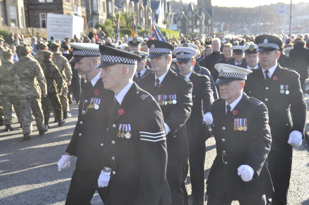 Policemen from Oban pay their respects. 17_T46_RemembranceSunday11