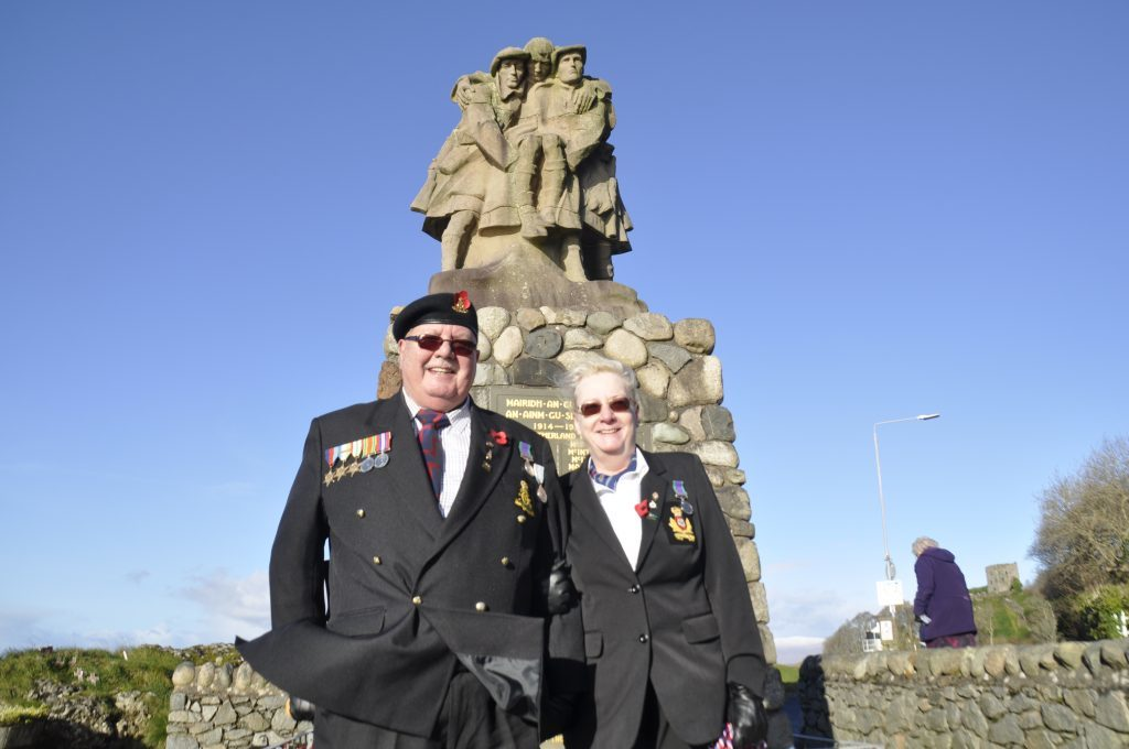 Ian and Lesley Simmonds helped to organise Oban's remembrance service. 17_T46_RemembranceSunday12