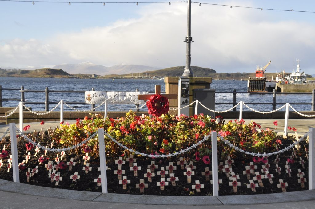 The Garden of Reembrance, which was created by the Oban branch of the British Legion. 17_T46_RemembranceSunday13.