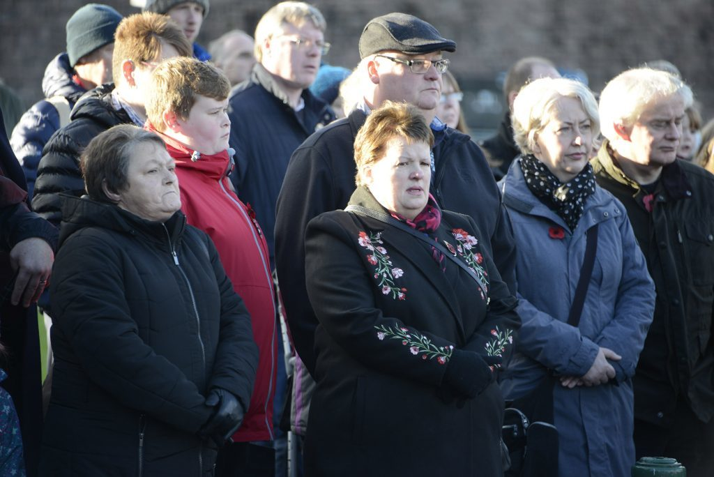 Hundreds of people turned out to watch the parade in Fort William. IF F46 Remembrance Fort 03. Photo: Iain Ferguson, the Write Image.
