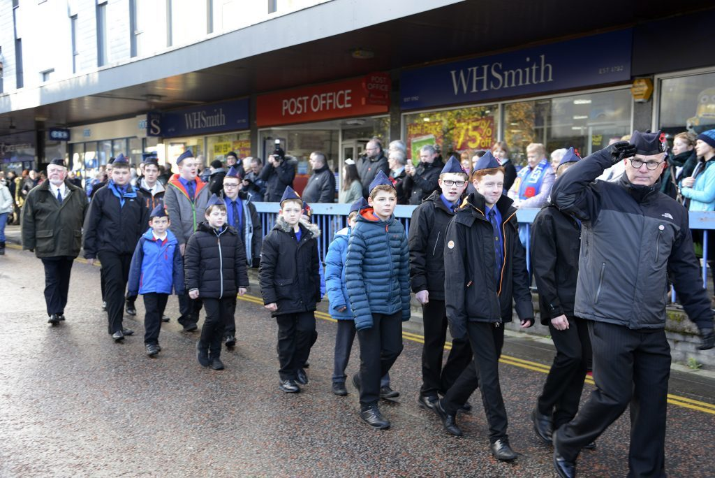 Boys Brigade also marched at the Remembrance parade in Fort William. IF F46 Remembrance Fort 05. Photo: Iain Ferguson, the Write Image.