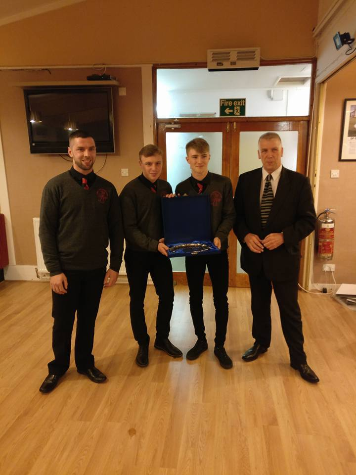 Joint winners of the Lochside Rovers Jamie Kerr Player of the Year award were Craig Easton and Daniel Sloss. They were presented with the award by Jamie's father John and brother Jordan.