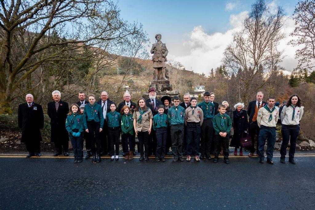 Youth organisations joined dignitaries in Killin at the war memorial.