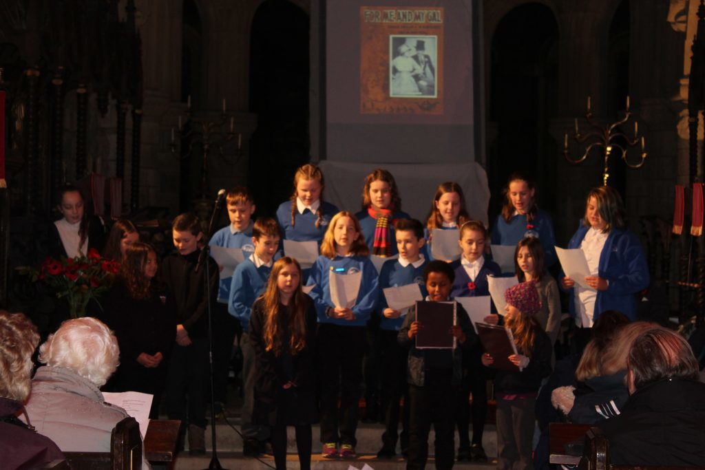 Taynuilt and Dalmally school choirs sang at St Conan's Kirk in Lochawe.