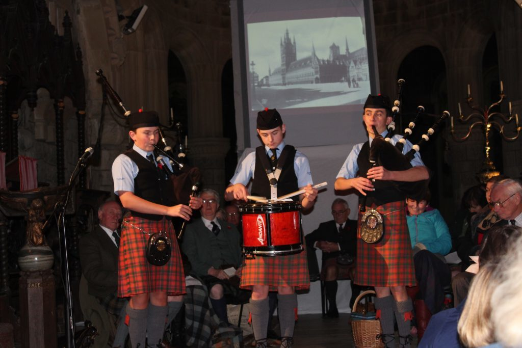 Oban High School Pipe Band were part of the service at St Conan's Kirk in Lochawe.