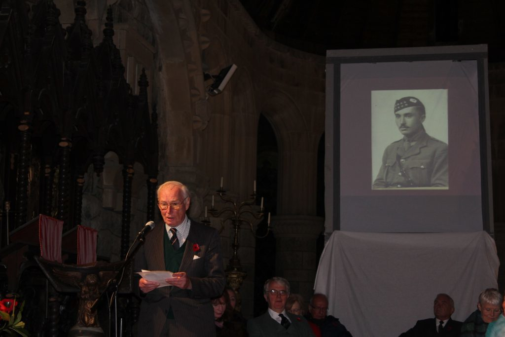Poignancy was added at St Conan's Kirk by Colin Paterson of Connel, reading his father's letters from the Western Front from 1917.