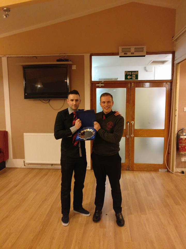 Iain MacMillan was presented with a Loyal Service Award by Lochside manager Gareth Evans.