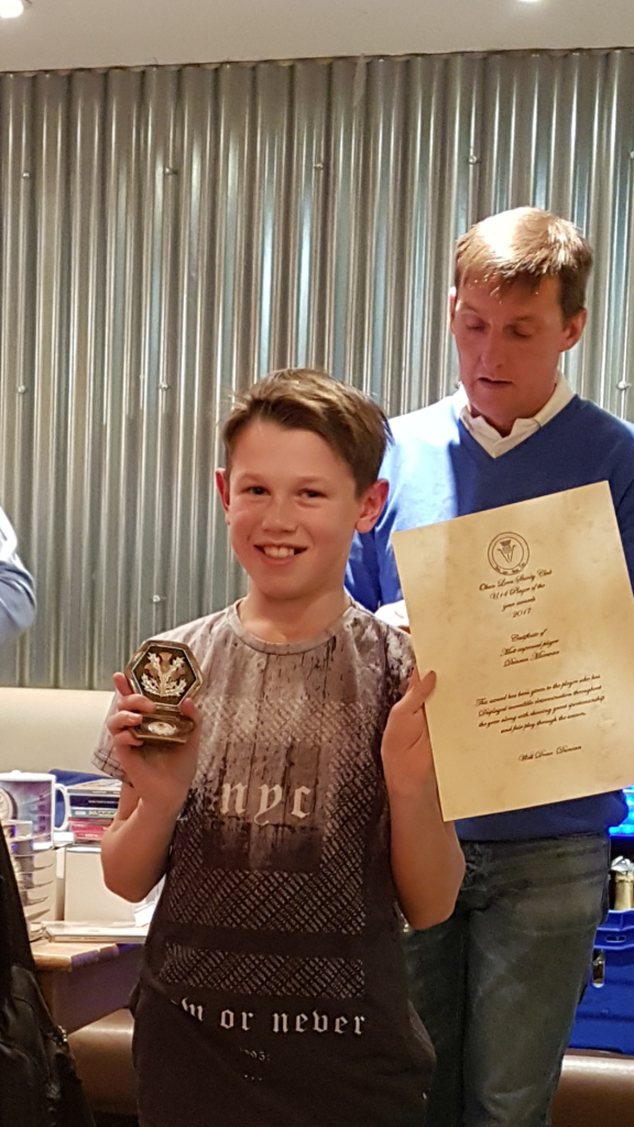 Duncan MacEwan – under 14 most improved player.