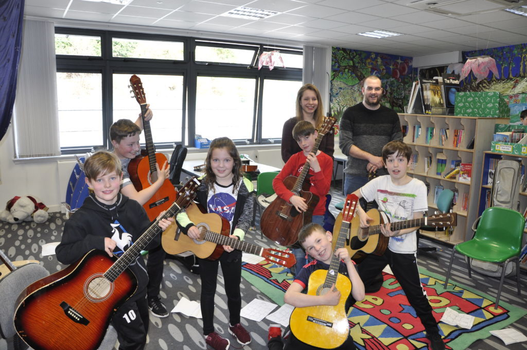 Ross Christie's class embraced their inner rock star. 16_t15_Fèis06