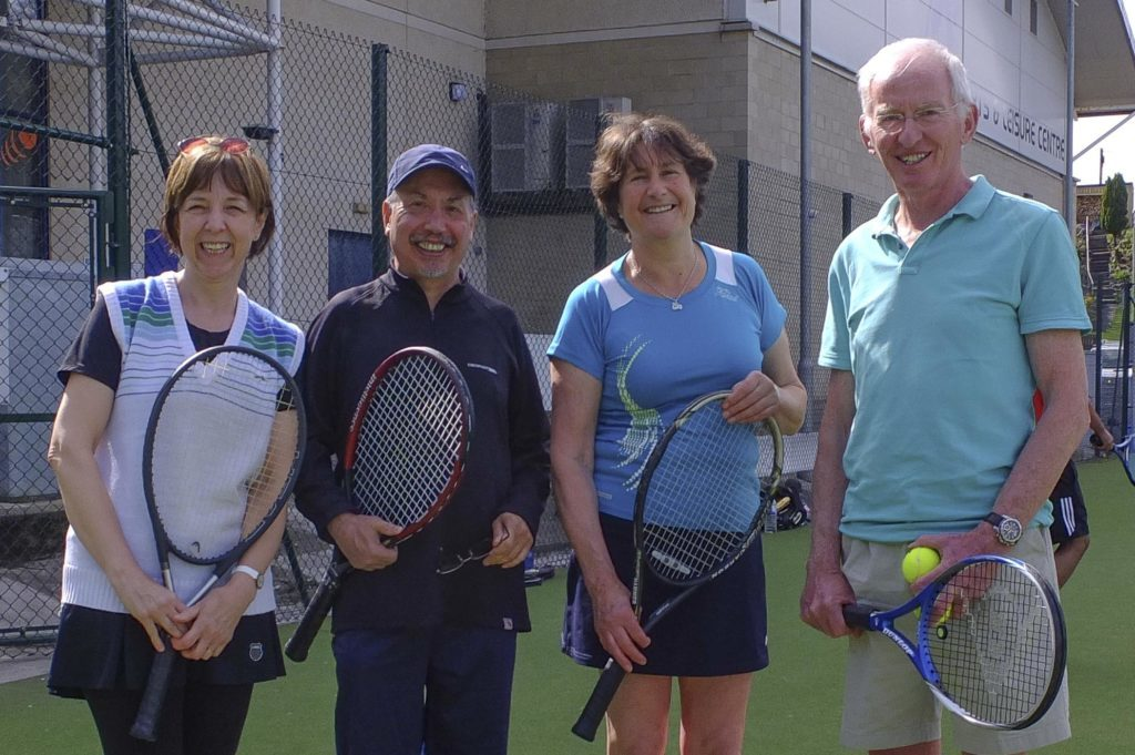 Local players Inez and Ron Cordeiro from Tobermory with Susie Hutchison and Andy Henderson