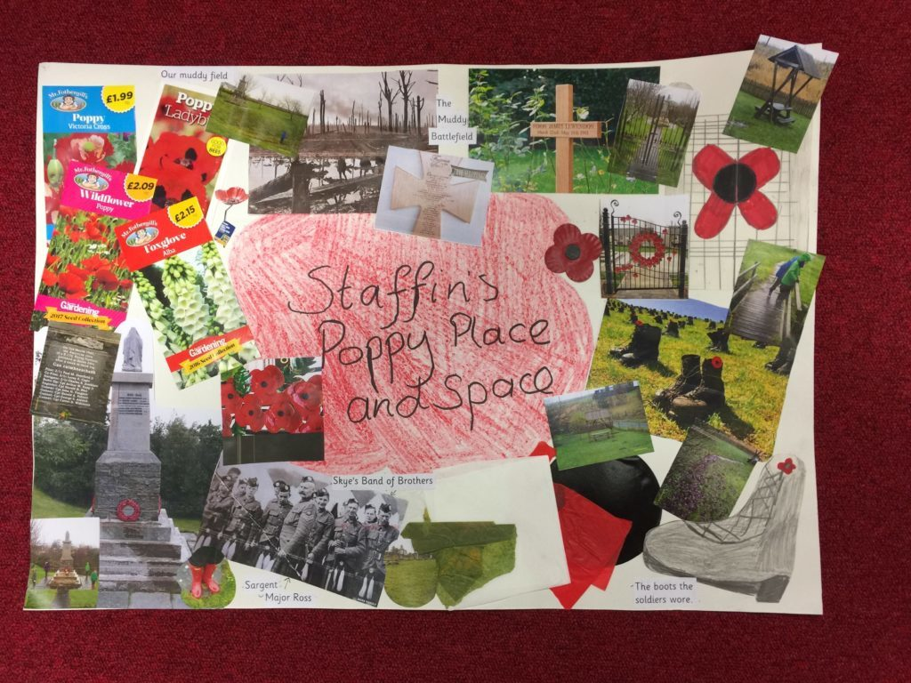 Staffin Primary School's entry in the Poppyscotland design competition. NO_T18_Staffin01