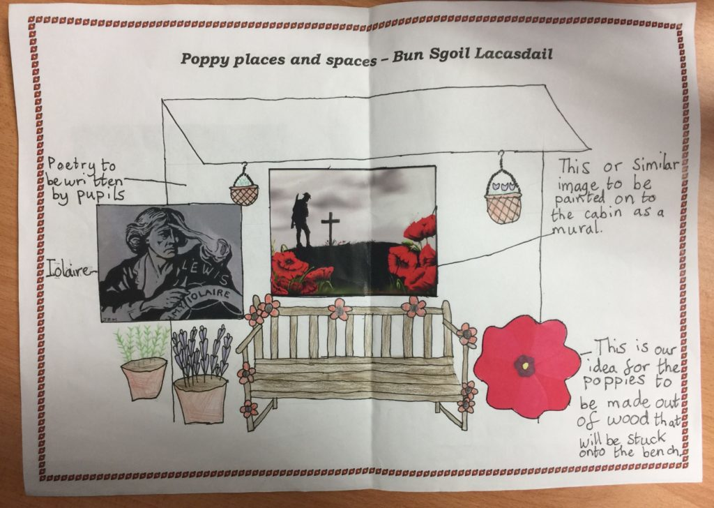 Laxdale Primary School's entry in the Poppyscotland design competition. NO__T18_Laxdale01