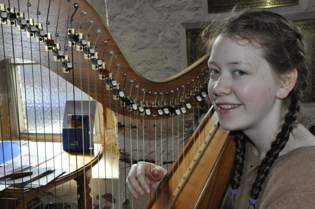 Anna Tait-Westwell from Oban played the Clarsach at St John's Cathedral 16_T19_HIMF04_AnnaTait