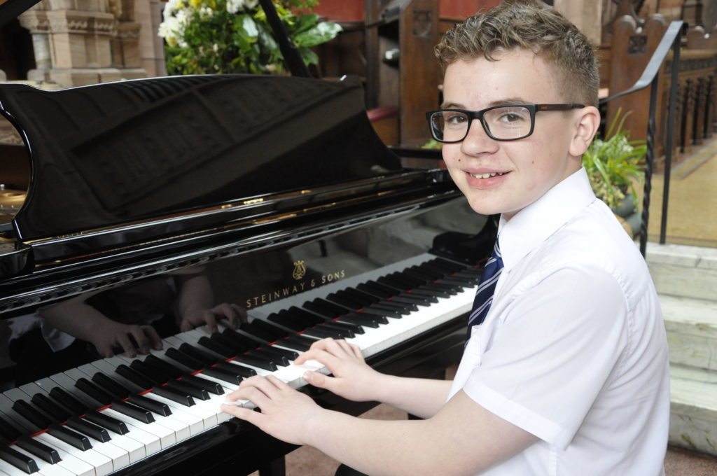 Archie Sloan, 14, from Perth took part in the piano competition at St John's Cathedral 16_T19_HIMF05_ArchieSloan