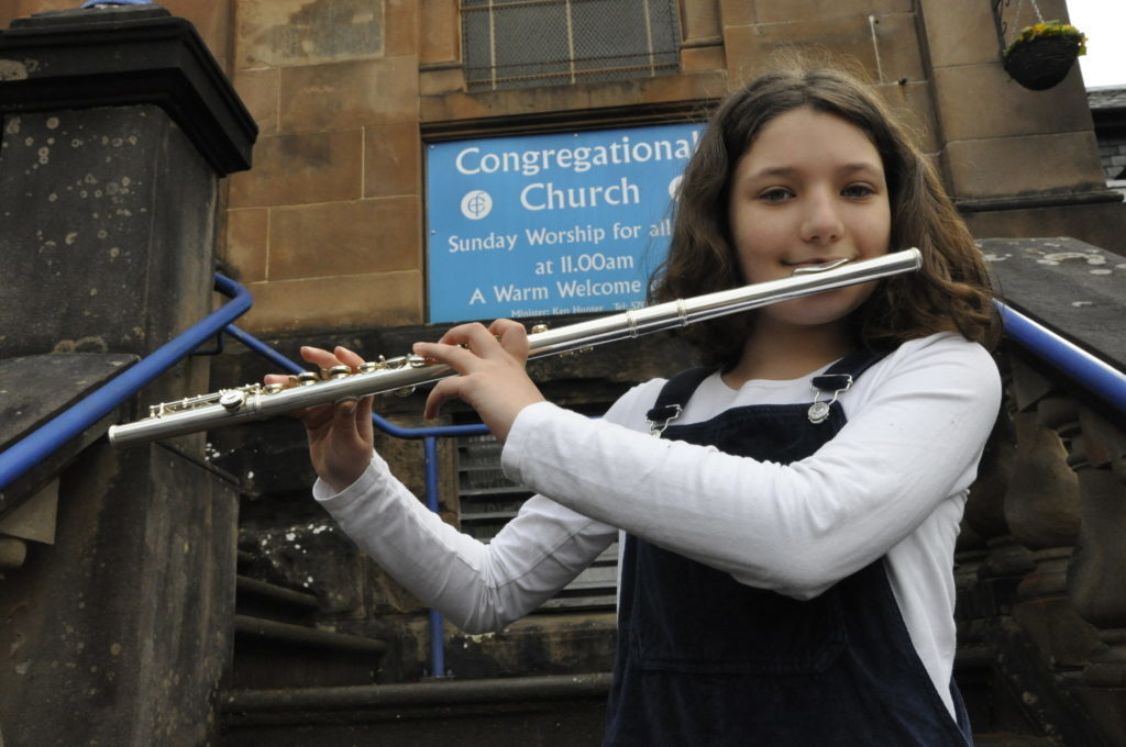 Iris Bevan, 12, played the flute at Oban's Congregational Church Hall 16_T19_HIMF08_IrisBevan