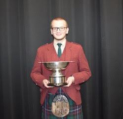 Lewis Russell won a piping trophy