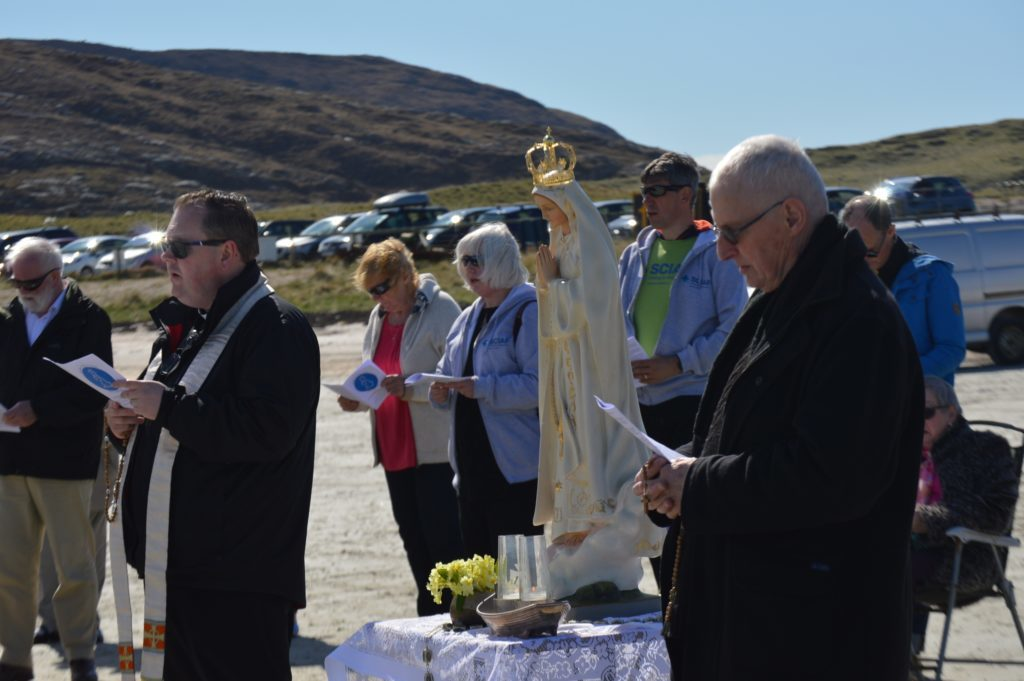 Alistair Dutton attended Barra airport beach for the Rosary on the Coast event.