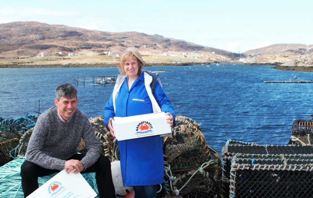Alistair Dutton with Christina MacNeil, general manager at Barratlantic
