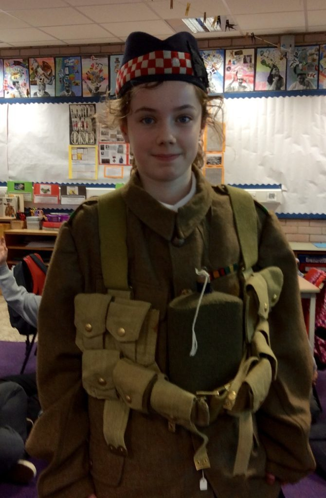 Schoolgirl Sophie MacDonald learned about the First World War.
