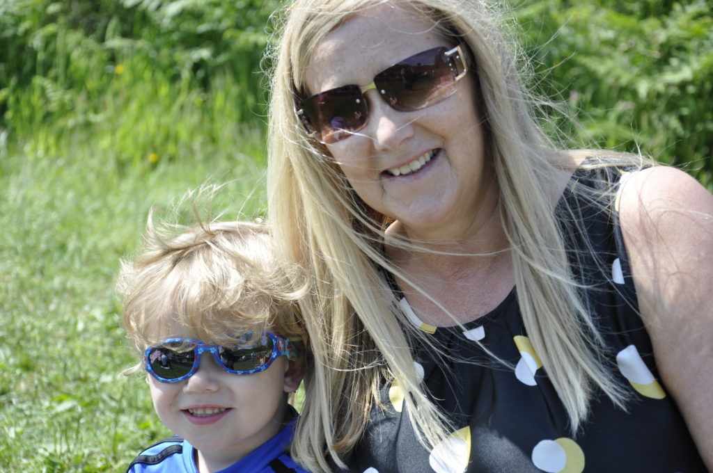 Allison Macleod and Alex MacQueen, 3, cheer on big brothers Caileam and Matthew MacQueen 17_T24_parksports09