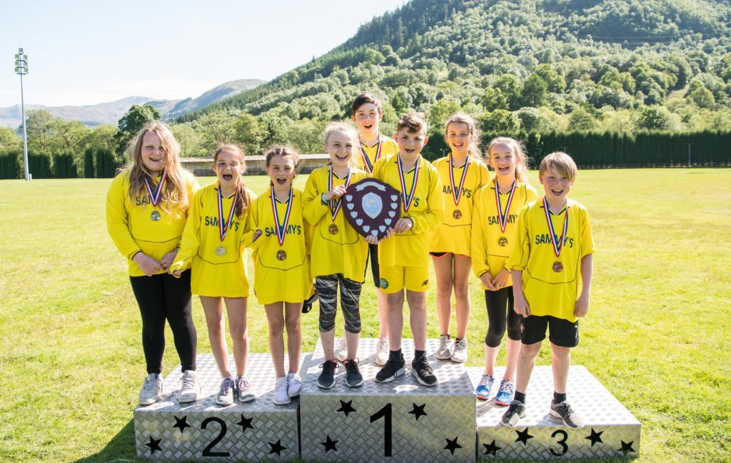 Caol Primary School took first place in the best overall large school. JP F23 Inter Schools 04
