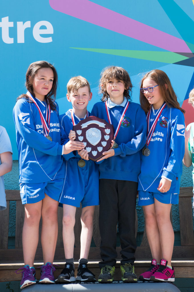 Invergarry Primary School won best overall small school of the day. JP F23 Inter Schools 07