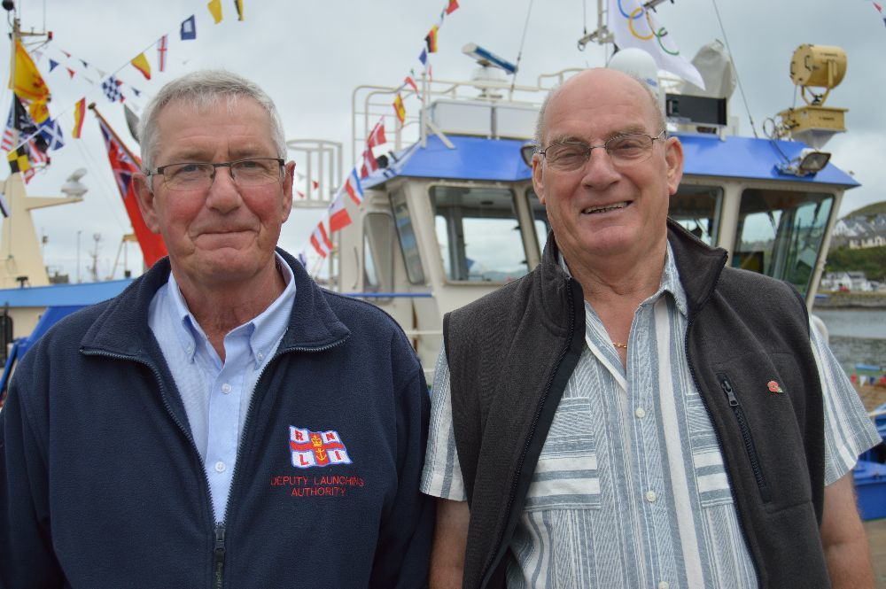 ​ Ross Carr, deputy launching authority of the Mallaig lifeboat and Michael Currie, retired skipper.