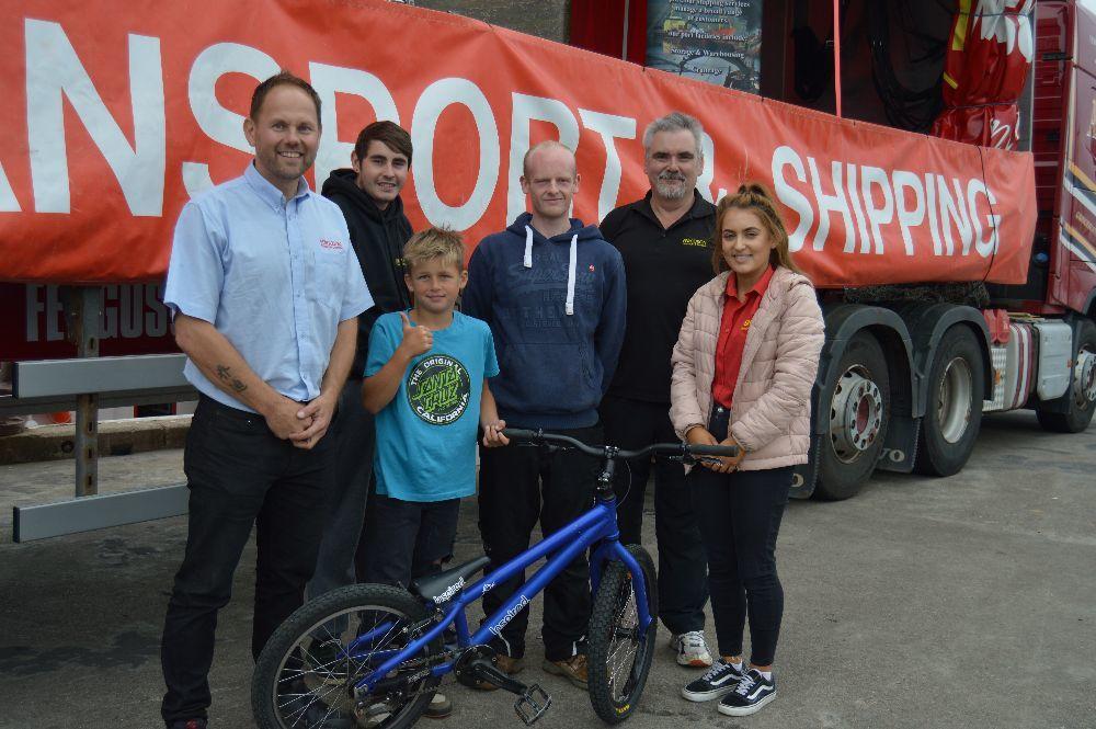   The Ferguson Transport team were: Jack Ferguson, Archie Ferguson, Michael Napier, Paul Robertson, Kevin Cox and Mairi Sandison.
