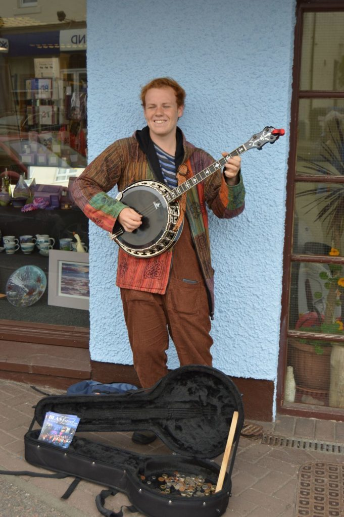 ​ Lachie Robinson of Mallaig was out busking.
