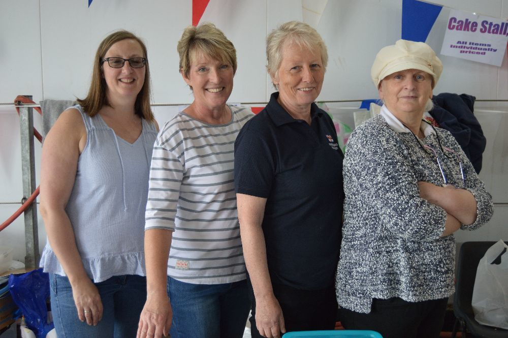 Ruth MacDonald, Mari Henderson, Liz MacLean and Many Ann Mathieson were running the cake stall.