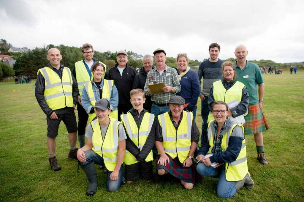 The team of Mallaig and Morar Highland Games volunteers and organisers. F32 MM Games 06