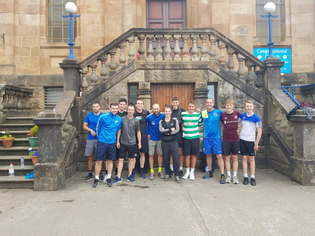 It was a 9am start for some of the Oban Saints squad last Saturday when fitness trainer Jemma Campbell put them through their paces going up and down Jacob's Ladder. Jemma has been taking the club's pre-season training and the boys are now feeling the benefit.