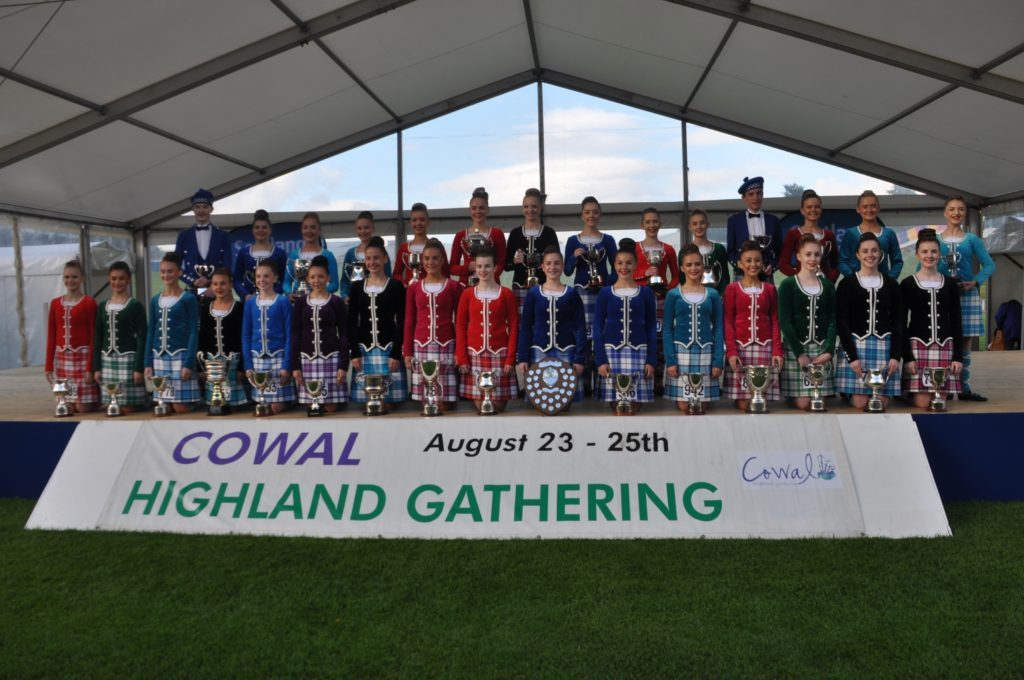 Some of the trophy winners in the 2018 Cowal Highland Gathering.